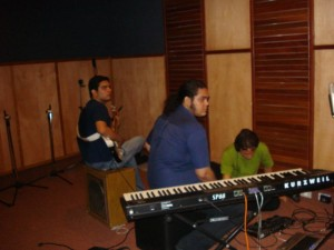 Na sala de gravação do Muzak